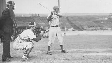 American baseball player Jackie Robinson of the Brooklyn Dodgers 1949