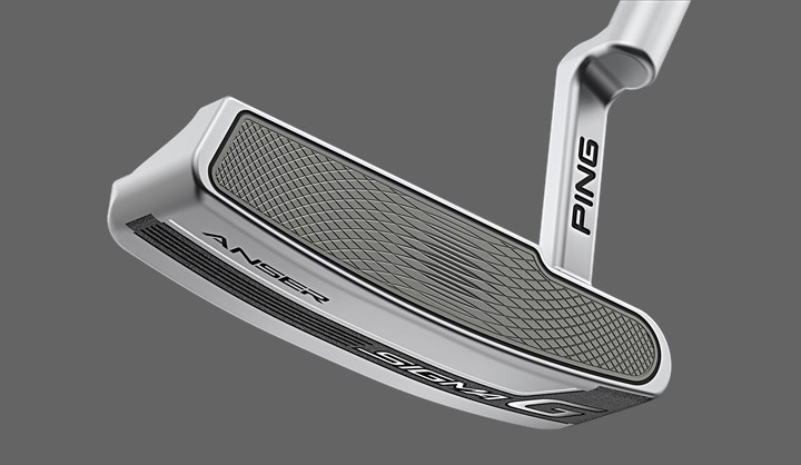 ping anser putter face on view