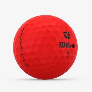 Wilso Duo Optix red golf ball