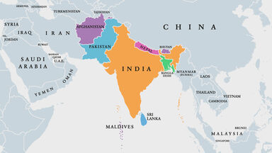 South Asia Map