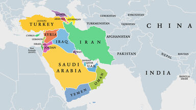 West Asia Map