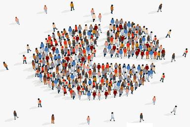 demographic pie chart of people