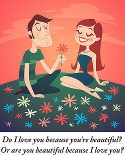 man giving a woman a flower
