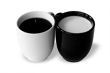 opposites - black and white cups
