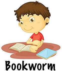 boy reading a book - bookworm
