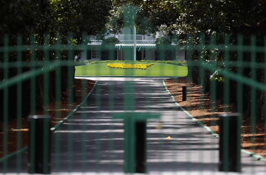 The gates of Augusta National Golf Club