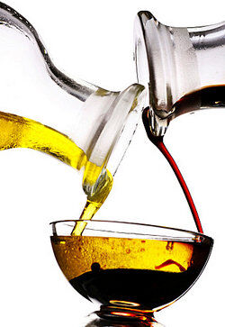 A mixture of oil and vinegar
