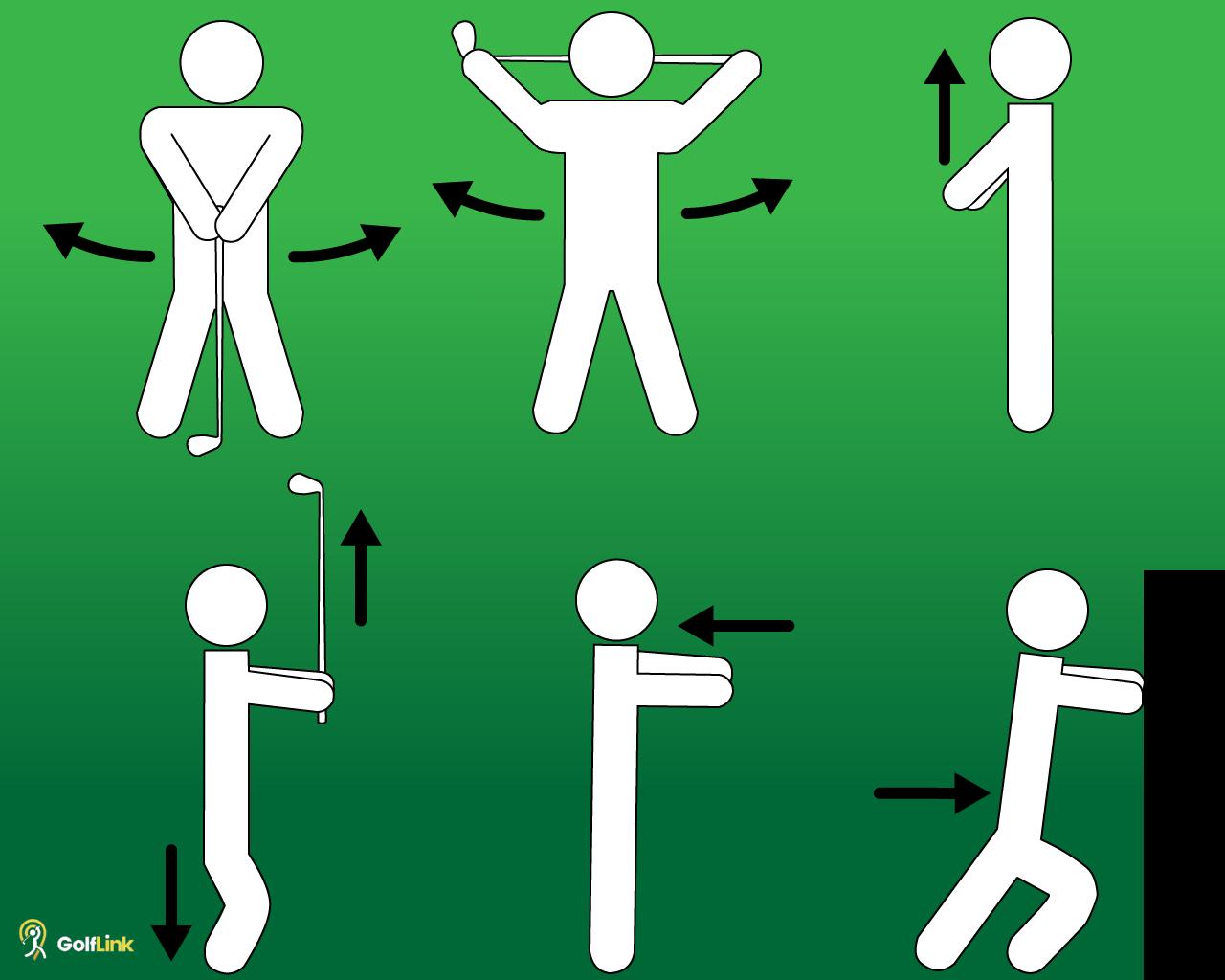 six golf stretches