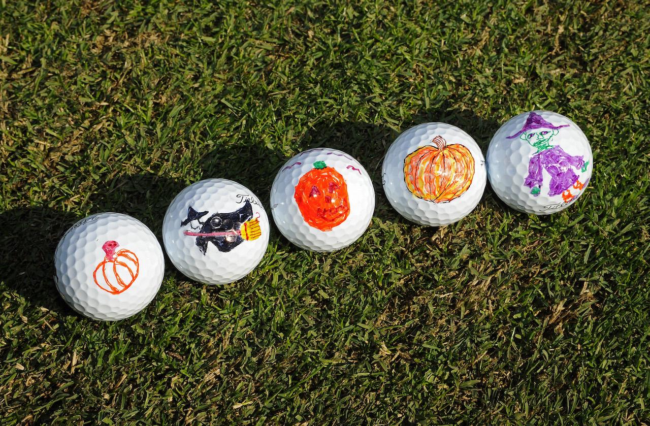 halloween golf balls pumpkin witch