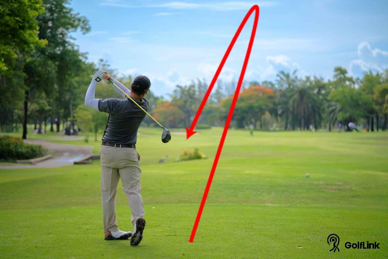 Golf draw shot arc