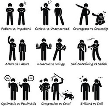 positive and negative personality traits
