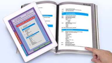 technical manual and tablet