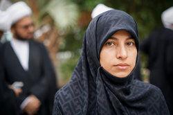 Muslim woman outside