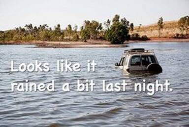 vehicle in a flood