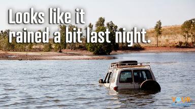 understatement vehicle in a flood