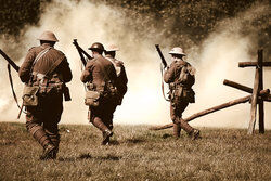 World War I Attack Formation Reenactment
