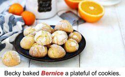 A plateful of orange cookies