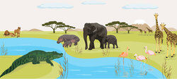 African savanna ecosystem