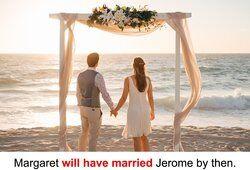 Beach wedding couple in Australia
