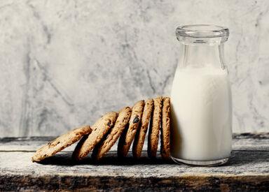 cookies and bottle of milk