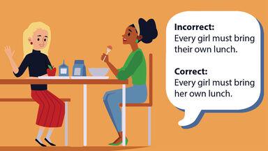 Pronoun error examples