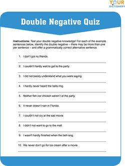 double negative quiz