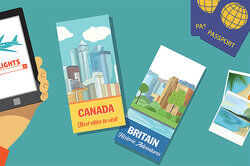 two travel brochures