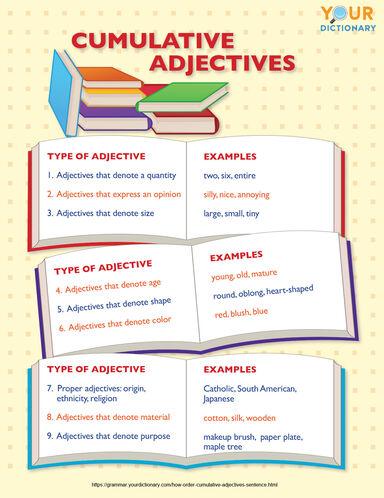 cumulative adjectives