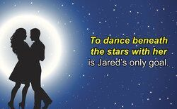 Graphic of couple dancing in the moonlight