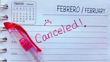 word canceled on calendar