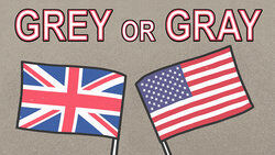 words grey or gray with flags