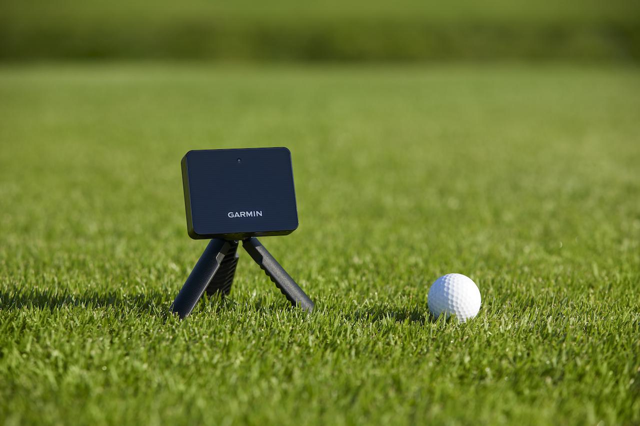 Garmin golf swing analyzer on course