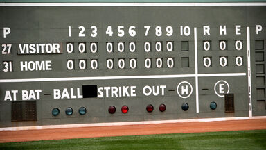 Baseball scoreboard example