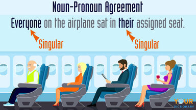 noun pronoun agreement everyone in their assigned seat