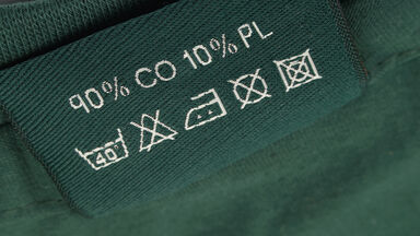 Textile abbreviations on label