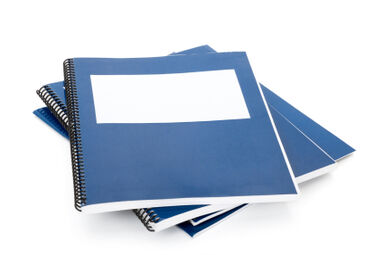 Blue Report Books Showing Report Writing Format