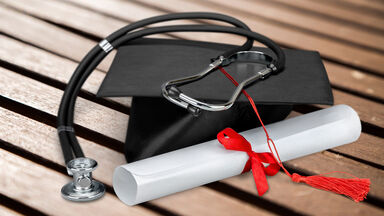 diploma showing graduation from medical school