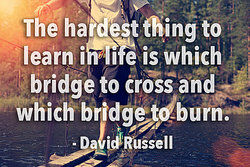 Life lesson quote by David Russell