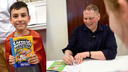 Dav Pilkey Captain Underpants book signing