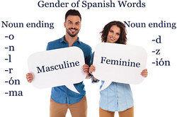 gender of Spanish words