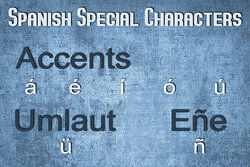 special characters in Spanish