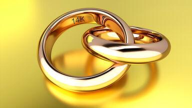14k abbreviation in gold ring