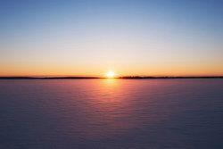The sun set at 7 P.M.