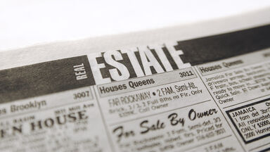 real estate newspaper page
