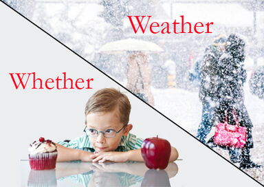weather vs whether in a sentence