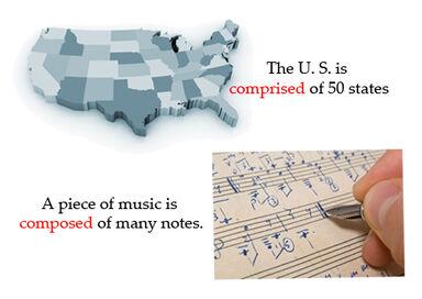 comprise vs compose example
