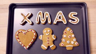 xmas abbreviation words on cookie sheet