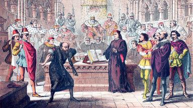Shakespeare's Merchant of Venice engraving