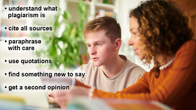student getting second opinion to avoid plagiarism