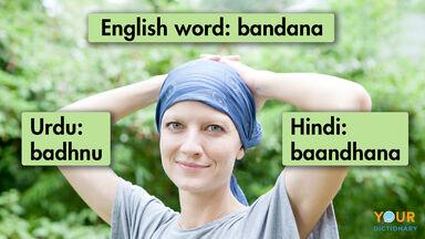 english word bandana from Hindi Urdu